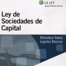 Libros de segunda mano: LEY DE SOCIEDADES DE CAPITAL. Lote 67014306