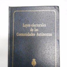Libros de segunda mano: LEYES ELECTORALES DE LAS COMUNIDADES AUTÓNOMAS PUBLICACIÓN DEL SENADO TDK33. Lote 62509095