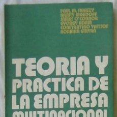 Libros de segunda mano: TEORÍA Y PRÁCTICA DE LA EMPRESA MULTINACIONAL - VARIOS AUTORES - ED. PERIFERIA 1974 - VER INDICE. Lote 68902801