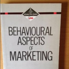 Libros de segunda mano: BEHAVIOURAL ASPECTS OF MARKETING - WILLIAMS -. Lote 69612525