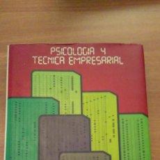 Libros de segunda mano: PSICOLOGIA Y TECNICA EMPRESARIAL Nº 1-. Lote 70019889