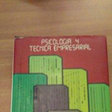 Libros de segunda mano: PSICOLOGIA Y TECNICA EMPRESARIAL Nº2. Lote 70020201