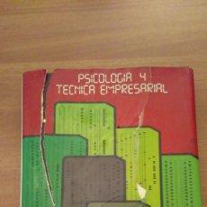 Libros de segunda mano: PSICOLOGIA Y TECNICA EMPRESARIAL Nº3. Lote 70020381