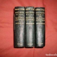 Libros de segunda mano: DOCTRINA PENAL DEL TRIBUNAL SUPREMO. 3 VOLÚMENES POR MANUEL RODRÍGUEZ NAVARRO. EDITORIAL AGUILAR.. Lote 70036573