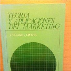 Libros de segunda mano: TEORIA Y APLICACIONES DEL MARKETING - J. L. CORDOBA -. Lote 70334477