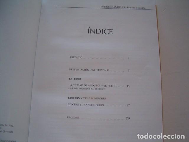 Libros de segunda mano: PABLO QUESADA HUERTAS (CCORD.). Fuero de Andújar. Estudio y Edición. RM78050. - Foto 2 - 70465793