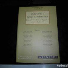 Libros de segunda mano: PARLAMENTO Y JUSTICIA CONSTITUCIONAL.IV JORNADAS DE LA ASOCIACION ESPAÑOLA DE LETRADOS DE. Lote 71544655