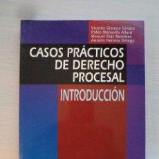Libros de segunda mano: CASOS PRÁCTICOS DE DERECHO PROCESAL. INTRODUCCIÓN. 2002. ISBN 8480045566.. Lote 72882739