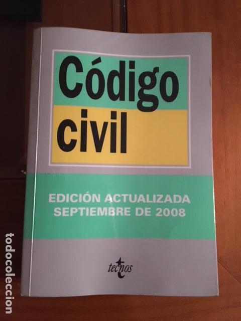 CODIGO CIVIL - TECNOS (Libros de Segunda Mano - Ciencias, Manuales y Oficios - Derecho, Economía y Comercio)