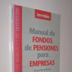 Libros de segunda mano: MANUAL DE FONDOS DE PENSIONES PARA EMPRESAS - MARIANO UTRILLA *. Lote 73946619