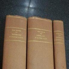 Libros de segunda mano: DERECHO HIPOTECARIO, 3 TOMOS, 1945. Lote 75004523