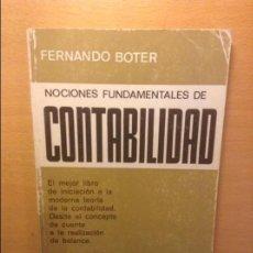 Libros de segunda mano: NOCIONES FUNDAMENTALES DE CONTABILIDAD - FERNANDO BOTER -. Lote 75126111