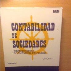 Libros de segunda mano: CONTABILIDAD DE SOCIEDADES - JOSE RIVERO -. Lote 75128883