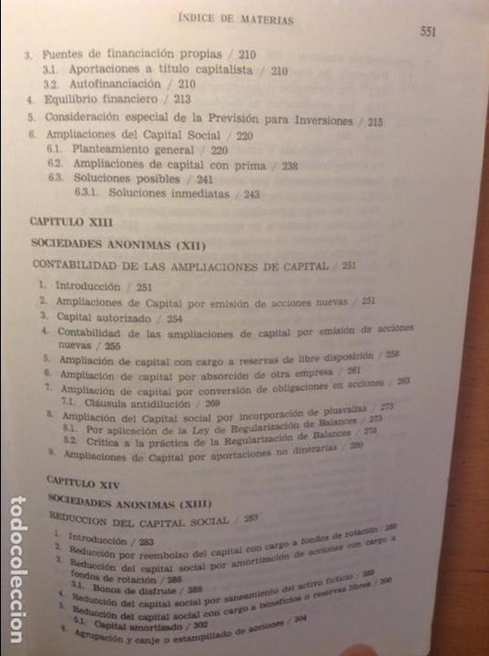 Libros de segunda mano: CONTABILIDAD DE SOCIEDADES - JOSE RIVERO - - Foto 7 - 75128883