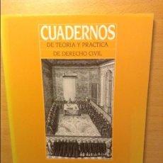 Libros de segunda mano: CUADERNOS DE TEORIA Y PRACTICA DE DERECHO CIVIL - DERECHO CIVIL IV -. Lote 221676945