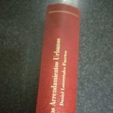 Libros de segunda mano: LOS ARRENDAMIENTOS URBANOS, 1995. Lote 75786787