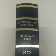 Libros de segunda mano: INFORMACION LABORAL, TOMO I, 1º EDICION DE 1977, . Lote 76646243