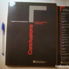 Libros de segunda mano: L'ENTORN COMPETITIU A CATALUNYA: CONCLUSIONS (GENERALITAT CATALUNYA QUADERNS COMPETITIVITAT 16 1993). Lote 78887777