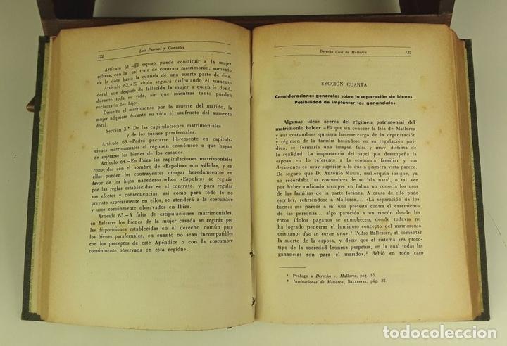 Libros de segunda mano: DERECHO CIVIL DE MALLORCA. LUÍS PASCUAL GONZÁLEZ. IMPRENTA MOSSÉN ALCOVER. 1951. - Foto 5 - 80731142
