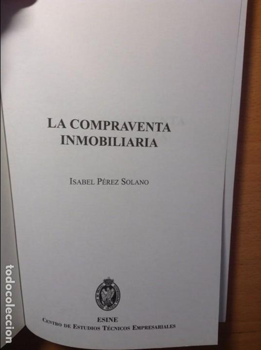 Libros de segunda mano: LA COMPRAVENTA INMOBILIARIA - ISABEL PEREZ SOLANO - - Foto 2 - 81136904