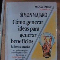 Libros de segunda mano: CÓMO GENERAR IDEAS PARA GENERAR BENEFICIOS. LA BRECHA CREATIVA (BUENOS AIRES, 1992). Lote 83839056