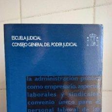 Libros de segunda mano: ESCUELA JUDICIAL, CONSEJO GENERAL DEL PODER JUDICIAL – CUADERNOS DE DERECHO JUDICIAL. Lote 85337256