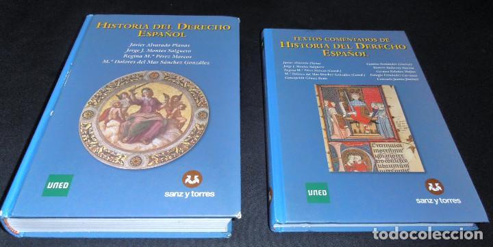 HISTORIA DEL DERECHO ESPAÑOL Y TEXTOS COMENTADOS DEL DERECHO ESPAÑOL (Libros de Segunda Mano - Ciencias, Manuales y Oficios - Derecho, Economía y Comercio)