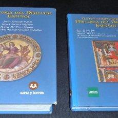 Libros de segunda mano: HISTORIA DEL DERECHO ESPAÑOL Y TEXTOS COMENTADOS DEL DERECHO ESPAÑOL. Lote 86063244