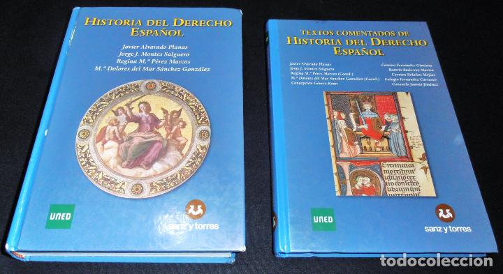 Libros de segunda mano: HISTORIA DEL DERECHO ESPAÑOL Y TEXTOS COMENTADOS DEL DERECHO ESPAÑOL - Foto 2 - 86063244