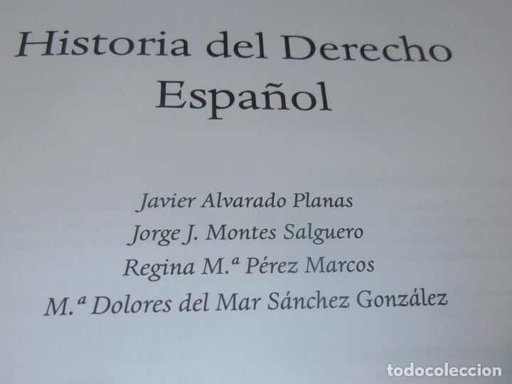 Libros de segunda mano: HISTORIA DEL DERECHO ESPAÑOL Y TEXTOS COMENTADOS DEL DERECHO ESPAÑOL - Foto 4 - 86063244
