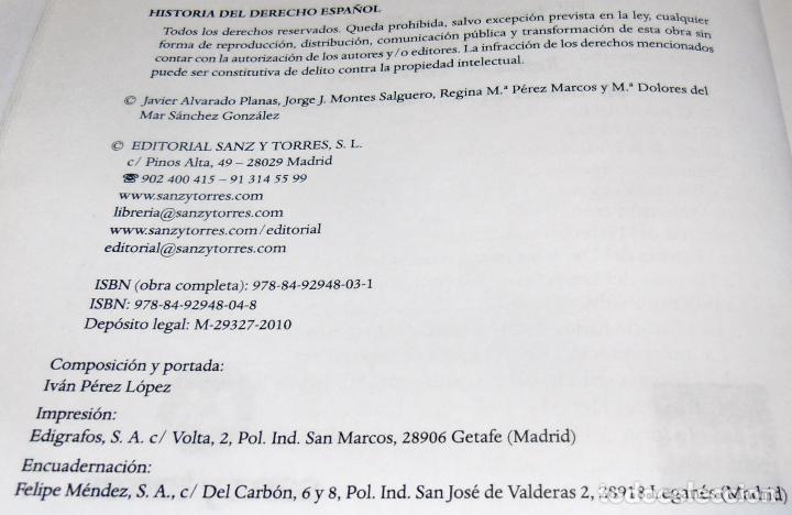Libros de segunda mano: HISTORIA DEL DERECHO ESPAÑOL Y TEXTOS COMENTADOS DEL DERECHO ESPAÑOL - Foto 5 - 86063244