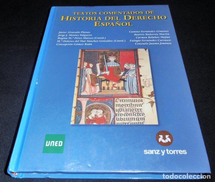Libros de segunda mano: HISTORIA DEL DERECHO ESPAÑOL Y TEXTOS COMENTADOS DEL DERECHO ESPAÑOL - Foto 6 - 86063244