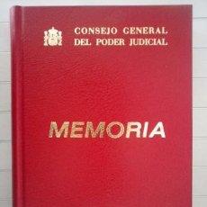 Libros de segunda mano: CONSEJO GENERAL DEL PODER JUDICIAL. MEMORIA 1984. Lote 86344308