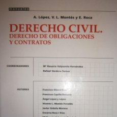 Libros de segunda mano: DERECHO CIVIL DERECHO DE OBLIGACIONES Y CONTRATOS LOPEZ MONTES ROCA TIRANT LO BLANCH 2001. Lote 254459290