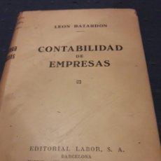 Libros de segunda mano: CONTABILIDAD DE EMPRESAS. LEON BATARDON. LABOR. LIBRO.. Lote 89311074