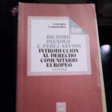 Libros de segunda mano: INTRODUCCIÓN AL DERECHO COMUNITARIO EUROPEO. Lote 89460940