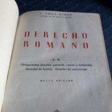 Libros de segunda mano: DERECHO ROMANO II-III. ARIAS RAMOS. 1954. LIBRO.. Lote 89556438