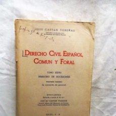 Second hand books - DERECHO CIVIL ESPAÑOL COMUN Y FORAL TOMO SEXTO DERECHO DE SUCESIONES VOLUMEN PRIMERO DE JOSE CASTAN - 90643865
