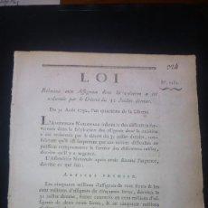 Libros de segunda mano: DECRETO LEYDE LA REVOLUCIÓN FRANCESA DE AGOSTO DE 1792 SOBRE LA EMISIÓN DE ASIGNADOS. Lote 91171150
