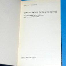 Libros de segunda mano: LIBRO LOS SECRETOS DE LA ECONOMÍA. HORST WAGENFÜHR. CÍRCULO DE LECTORES.. Lote 92170300