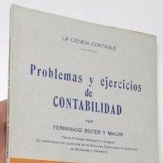 Libros de segunda mano: PROBLEMAS Y EJERCICIOS DE CONTABILIDAD - FERNANDO BOTER Y MAURI. Lote 93377520