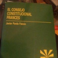 Livros em segunda mão: EL CONSEJO CONSTITUCIONAL FRANCES. Lote 93985755