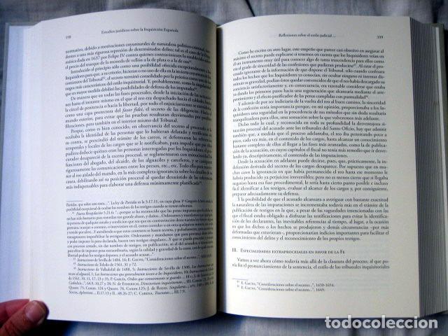 Libros de segunda mano: Estudios jurídicos sobre la inquisición española, de Enrique Gacto Fernández. Dedicado por el autor - Foto 5 - 94098180