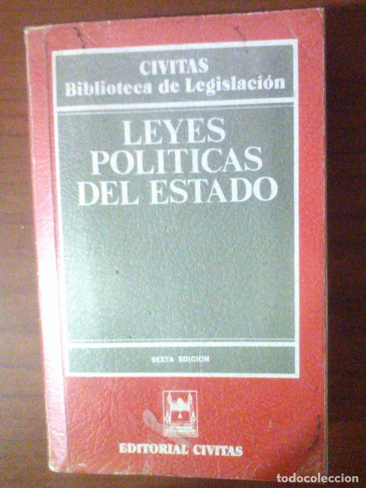 LEYES POLÍTICAS DEL ESTADO (Libros de Segunda Mano - Ciencias, Manuales y Oficios - Derecho, Economía y Comercio)