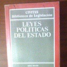 Libros de segunda mano: LEYES POLÍTICAS DEL ESTADO. Lote 94352998