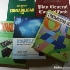 Libros de segunda mano: LOTE 5 LIBROS DE CONTABILIDAD GENERAL, DEUSTO, MCGRAW, CAI, ROA, VER DESCRIPCION. Lote 95302267