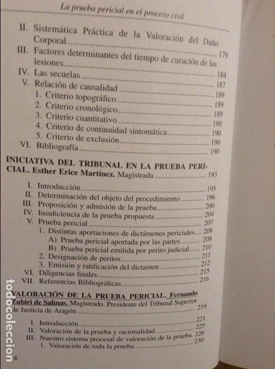 Libros de segunda mano: LA PRUEBA PERICIAL EN EL PROCESO CIVIL (CONSEJO GENERAL DEL PODER JUDICIAL) - Foto 7 - 95541667