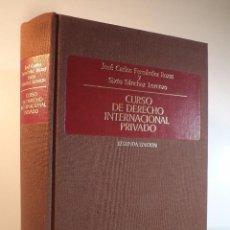Libros de segunda mano: CURSO DE DERECHO INTERNACIONAL PRIVADO. FERNÁNDEZ ROZAS. 2ª ED. MEJORADA Y AMPLIADA. ISBN 8447002845. Lote 95907131