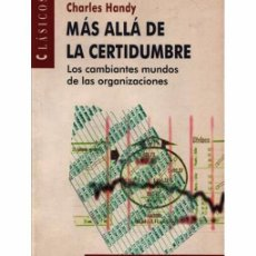 Libros de segunda mano: MÁS ALLÁ DE LA CERTIDUMBRE. Lote 97319443