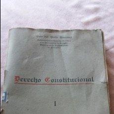Libros de segunda mano: LIBRO DERECHO CONSTITUCIONAL LUIS DEL VALLE 1944. Lote 98203527